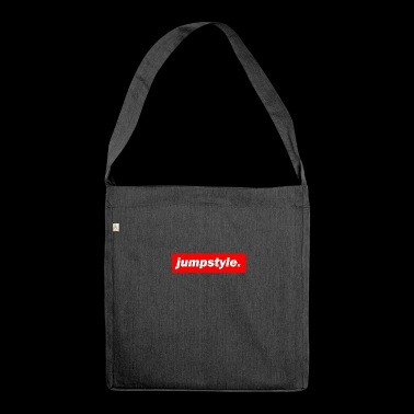 techno mischpult red bass bpm jumpstyle - Schultertasche aus Recycling-Material
