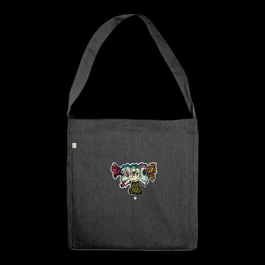 Monkey of Wisdom - Shoulder Bag made from recycled material