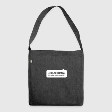 Capture Your Identity Back! - Shoulder Bag made from recycled material