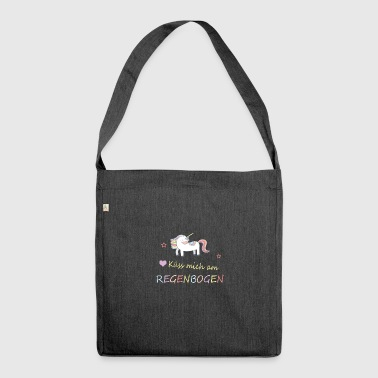 Kiss me at my rainbow - unicorn - Shoulder Bag made from recycled material