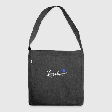 Lausbua | Bavarian dialect - Shoulder Bag made from recycled material