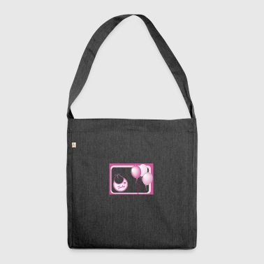 pink birth - Shoulder Bag made from recycled material
