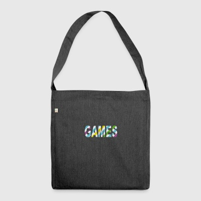 Game Stripes - Shoulder Bag made from recycled material