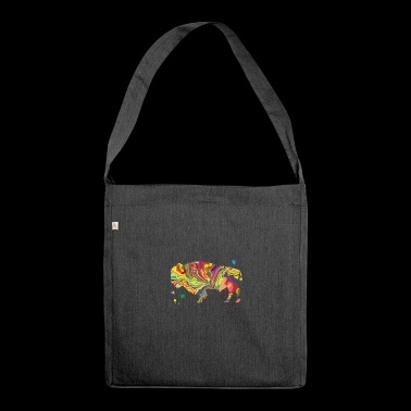 Colorsplash Bison - Schultertasche aus Recycling-Material