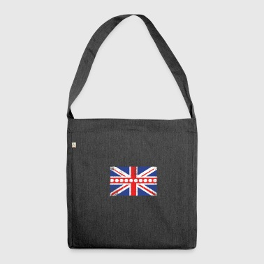 Vintage Flag> UK Flag Made of Billiards Balls + Cue - Shoulder Bag made from recycled material