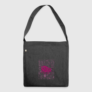 Nurse / nurse - Shoulder Bag made from recycled material
