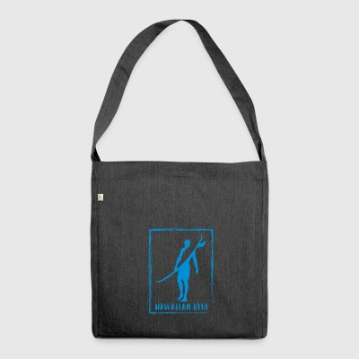 Hawaiian Blue Surfer logo - Shoulder Bag made from recycled material