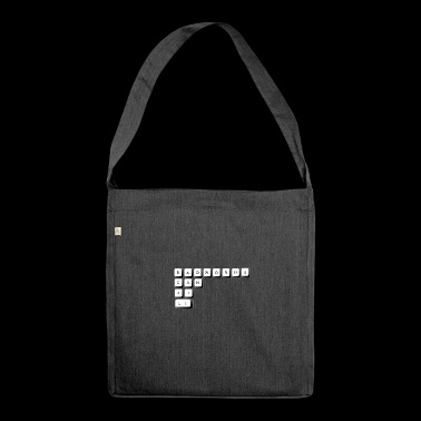 WORDS - Shoulder Bag made from recycled material