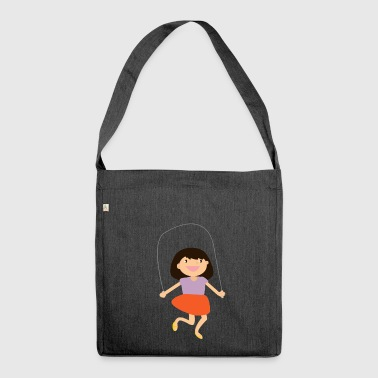 high jump jumping jump jump ballerina8 - Shoulder Bag made from recycled material
