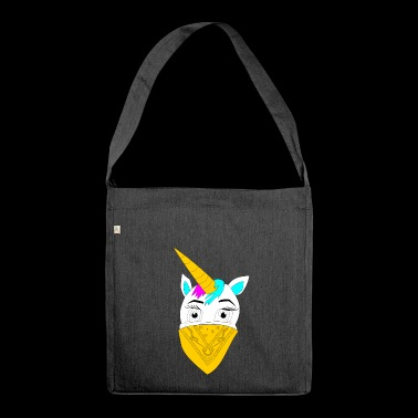 Unicorn with bandana stardust bandits - Shoulder Bag made from recycled material