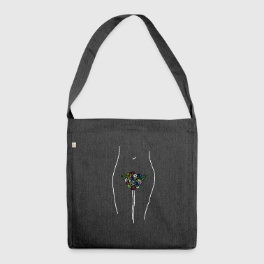 flower power - Borsa in materiale riciclato