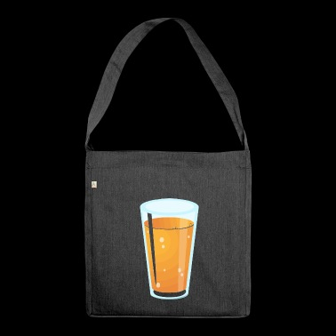 Juice glass - Shoulder Bag made from recycled material