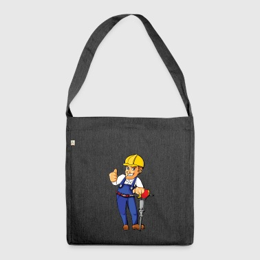 construction worker construction worker road construction2 - Shoulder Bag made from recycled material