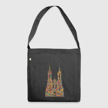 crown crown koenig king castle castle tower burg3 - Shoulder Bag made from recycled material