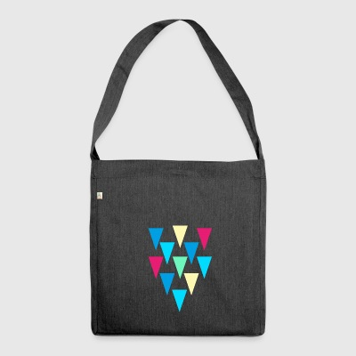 triangles_rain - Shoulder Bag made from recycled material