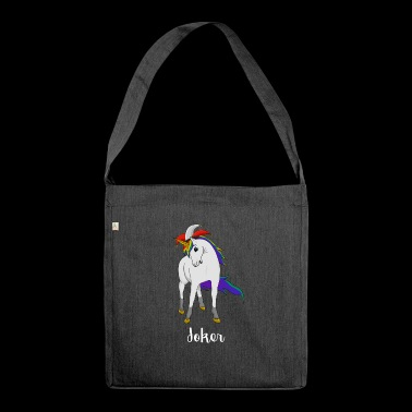 Joker dell'unicorno - Borsa in materiale riciclato