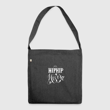 Hip Hip Hurra white - Schultertasche aus Recycling-Material