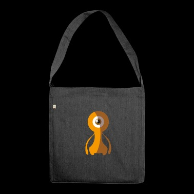 70s Alien Monster - 70s Monster Collection - Schultertasche aus Recycling-Material