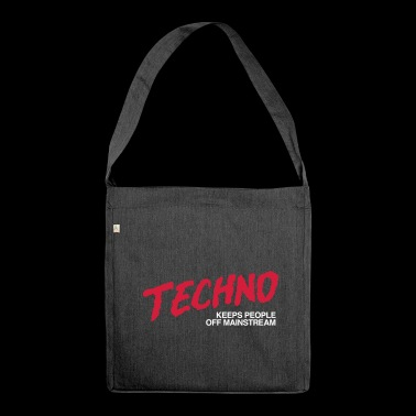 Techno music - Shoulder Bag made from recycled material