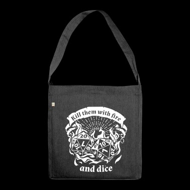 Fire and dice - Roleplay Shirt - Shoulder Bag made from recycled material