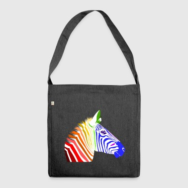 Zebra; Punk Zebra; Rainbow Zebra - Shoulder Bag made from recycled material