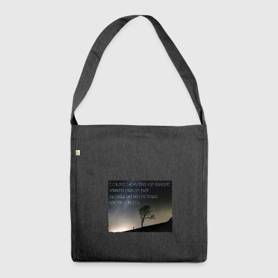 Shakespeare quote - Shoulder Bag made from recycled material