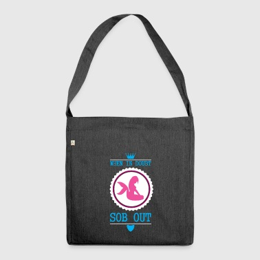 Mermaid - cry - gift - Shoulder Bag made from recycled material