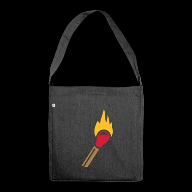 Match flame - Shoulder Bag made from recycled material