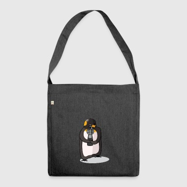 killer pinguin colored - Sac bandoulière 100 % recyclé