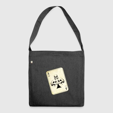 Ace of Skulls - Schultertasche aus Recycling-Material