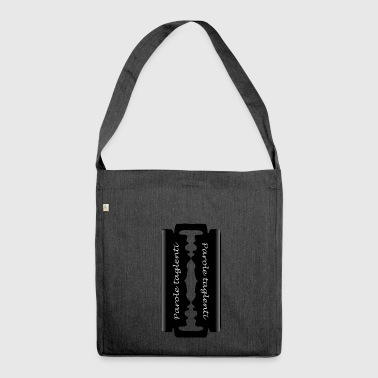 sharp words - Shoulder Bag made from recycled material