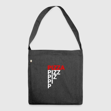 Pizza / food / food / gift - Shoulder Bag made from recycled material