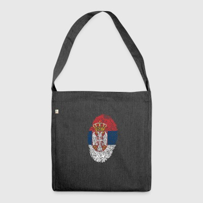 Fingerprint - Serbia - Shoulder Bag made from recycled material