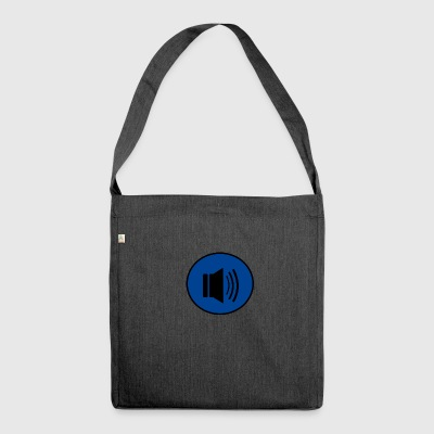 Audio button design - Shoulder Bag made from recycled material