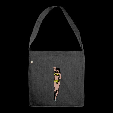 Pinup Frau - Schultertasche aus Recycling-Material