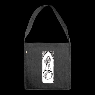 art deco for peace with white background - Shoulder Bag made from recycled material