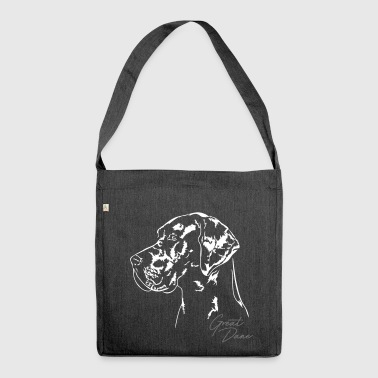 GREAT DANE Portrait Wilsign's Great Dane - Shoulder Bag made from recycled material