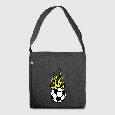 soccer ball soccer flame fire flame - Shoulder Bag made from recycled material