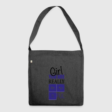 Chemistry girl you are really pretty - Shoulder Bag made from recycled material