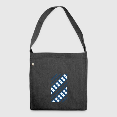 Blue White Pattern - Shoulder Bag made from recycled material