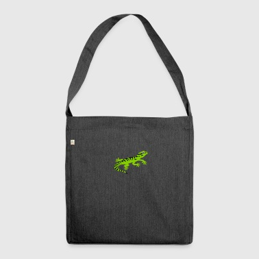 Stripped gecko - Shoulder Bag made from recycled material