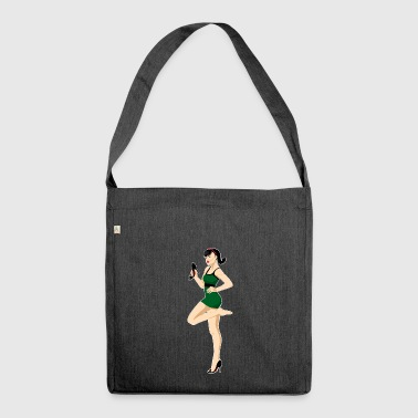 pinup - Schultertasche aus Recycling-Material