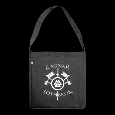 Ragnar Lothbrok Wikinger Kämpfer Mythologie Nordic - Schultertasche aus Recycling-Material