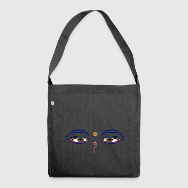 Buddha Eyes - Shoulder Bag made from recycled material