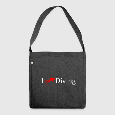 I love diving deep sea gift idea - Shoulder Bag made from recycled material
