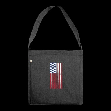 Vintage Flag> US Flag Made of Billiards Balls + Cue - Shoulder Bag made from recycled material
