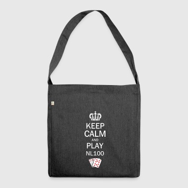 Keep Calm and Play NL100 Poker - Schultertasche aus Recycling-Material