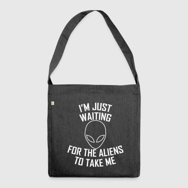 ALIEN. Typography. - Shoulder Bag made from recycled material
