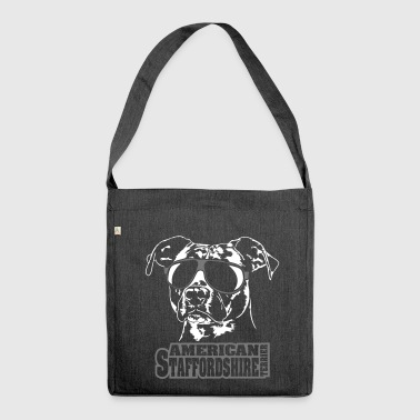 AMERICAN STAFFORDSHIRE TERRIER cool - Shoulder Bag made from recycled material