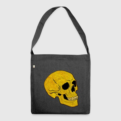 YellowSkull - Schultertasche aus Recycling-Material